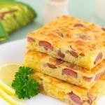 Пирог с сыром и сосискамиИнгредиенты: