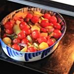 ✔  Запечённые овощи с песто и моцареллой
