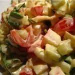 ✔   Салат с курицей и овощами