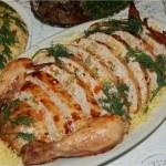 ✔    Курица фаршированная ветчиной и сыром