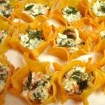 ✔     Сырный салат в тарталетках