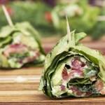 ✔     Зеленые роллы в листьях салата «Здоровье»