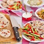 ✔     Куриный рулет с оливками, вялеными томатами и фисташками (диетический)