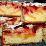 ✔  Пирог сливово-персиковый