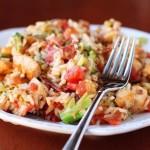 Рис с брокколи и курицей