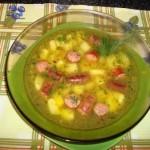 Суп из колбасок
