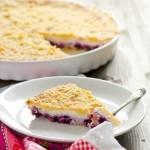 Пирог с ягодами и творогом