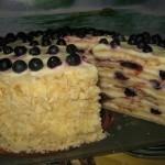 Торт «лесная ягодка» на сковороде