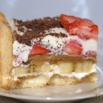 Бананово-клубничный тортик по мотивам тирамису