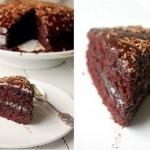 Идеальный шоколадный торт в шоколадной глазури