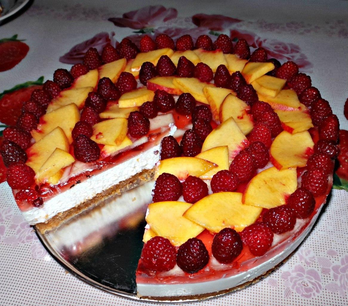 Чизкейк без выпечки с фруктами - пошаговый рецепт с фото на Повар. ру 55