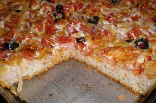 видео рецепт итальянской пиццы на тонком тесте