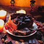 Шоколадный тарт с черносливом.