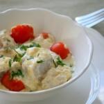 Треска запечённая с сыром и томатами